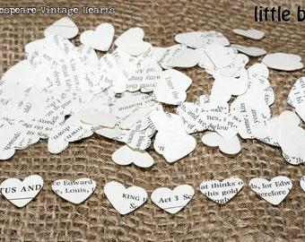 1000 x Shakespeare Confetti Hearts