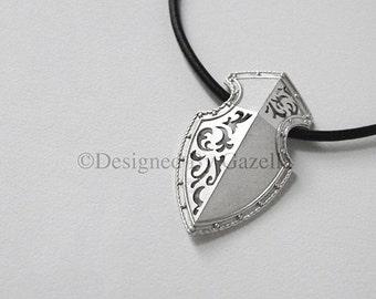 European Shield Necklace