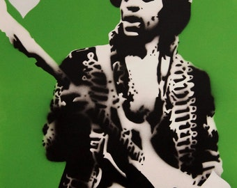 Jimi Hendrix ace Spraypaint stencil