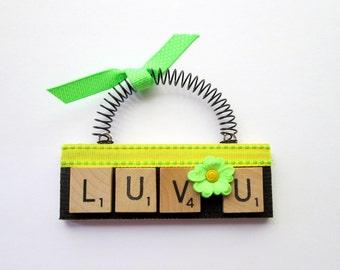 Love U  Scrabble Tile Ornament