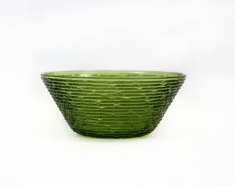 Vintage Anchor Hocking 'Soreno' Green Glass Bowl (E8976)