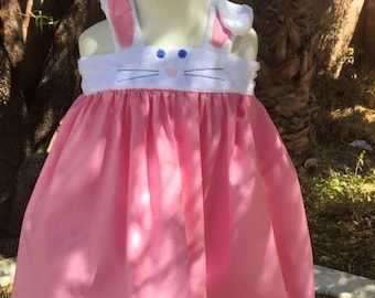 Easter Bunny dress! Cute, adorable, toddler, girls, 3, 6, 9, 12, 18, 2t, 3t, 4t, 5t, 7, 8. Spring