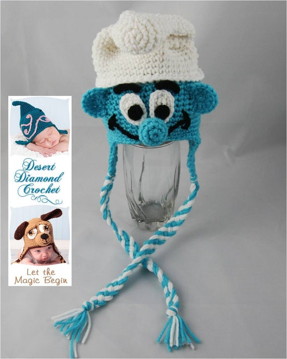 Crochet Pattern 057 - Boy Blue Gnome Beanie Hat - All Sizes
