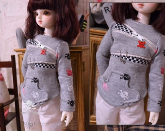 MSD BJD Cute Skull Top with details