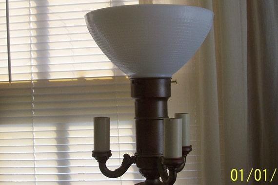 10 Top Milk Glass Diffuser for 3 Candelabra Floor Lamps