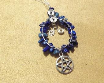 Lapis Lazuli & Pentacle Pendant