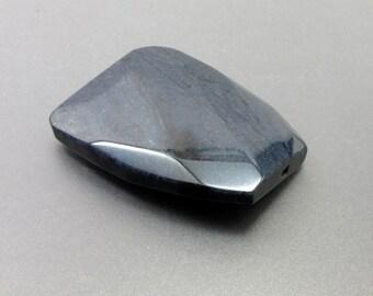 Blue Dumortierite Trapezoid Shape Pendant D3018