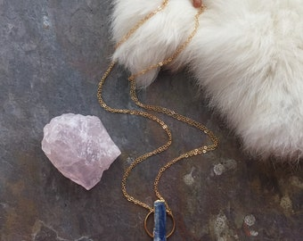 Kyanite Pendant / Raw Kyanite Necklace