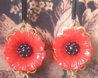 Art Nouveau Poppy Earrings