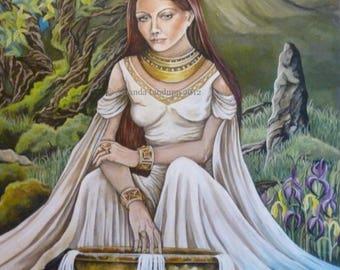 Goddess Danu Greeting Card