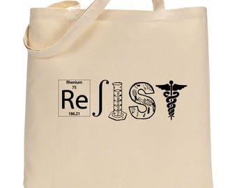 Resist bag, Resistance totebag, Not my President, Resist tote bag, Activist Grocery Bag
