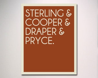 MADMEN Typography / Sterling Cooper Draper Pryce Poster Print / Office Art