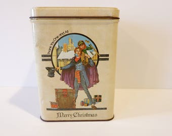 Vintage Wolfgang Candy Christmas Tin, A Christmas Carol Collectible