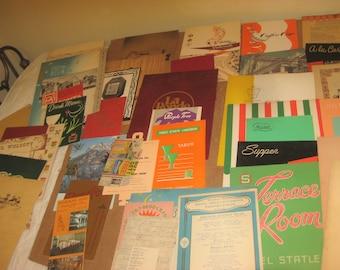 Assorted Lot of Vintage Menus    [c5015o]