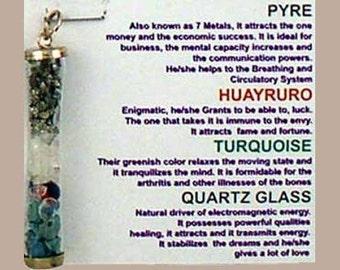 Amuleto Maravilloso Poder Pendant with Natural Gemstones (Marvelous Power Pendant)