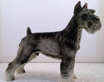 Vintage Shefford Pottery Large Schnauzer Figurine - Handsome Dog!