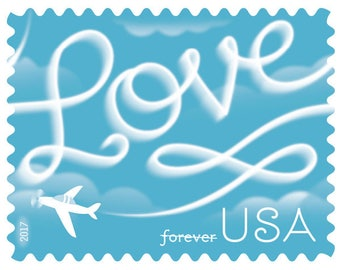 New!!! Love Skywriting forever stamps. 100 stamp per order.