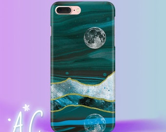 Moon iPhone 7 Case Marble iPhone 8 Plus Case iPhone 5S Case Stone iPhone Se Case Marble Case iPhone 6S Case iPhone X Case iPhone 4 Case
