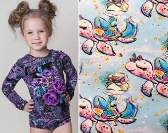 Girls Mermaid Leotard, Ballerina, Bodysuit, Baby Leotard, Toddler Leo, Dance, Gymnastics Leotard, Leotards for Girls