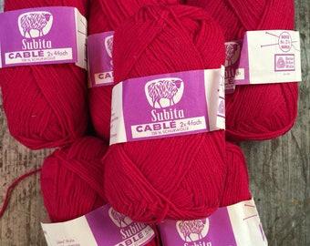 Subita Wool Yarn Skeins 6 x 50 grams West Germany