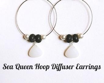 Sea Queen  Hoop Diffuser Earrings