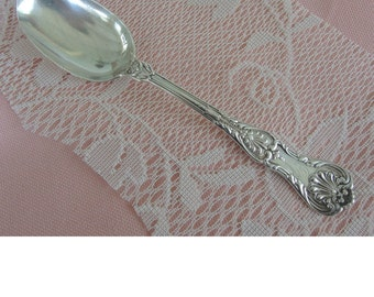 Antique Sterling Silver Serving Spoon, Gorham Sterling, J. E. Caldwell,  King Pattern,  Heavy Victorian Sterling, Wedding, Shower Gift
