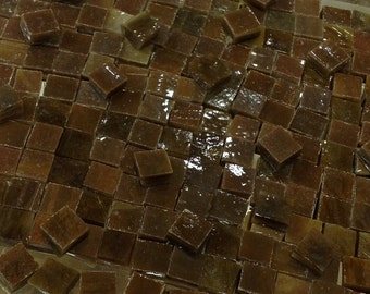"""100 3/8"""" RICH CHOCOLATE BROWN - Stained Glass Mosaic Supply A24"""