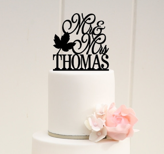 personalized wedding cake topper canada wedding cake topper fall wedding cake topper personalized 18280