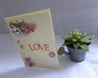 Card any occasion yellow love