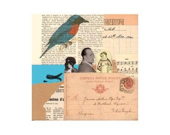 Amalgam 1. Open Edition Print. Vintage Theme.