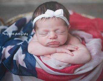 American Flag Wrap, Baby American Flag Photo Prop, American Flag Layering Fabric, USA Flag Baby Photo, Patriotic Flag Basket Stuffer