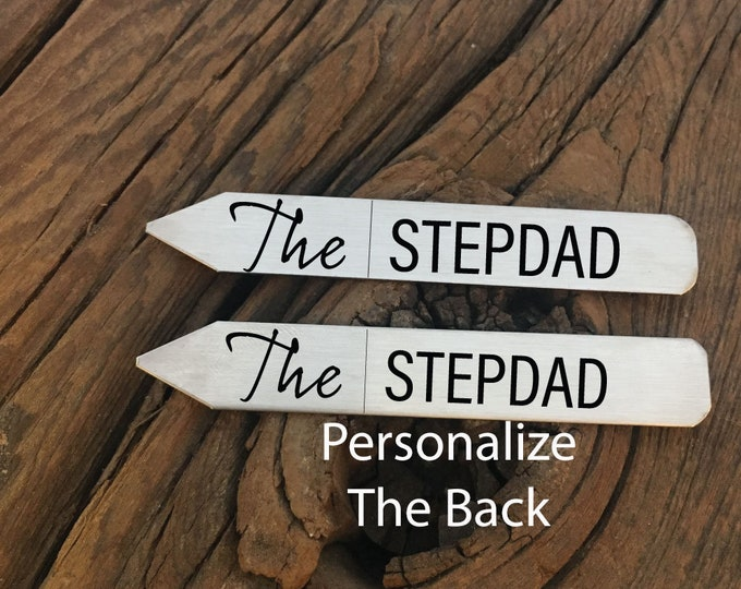 The Stepdad Collar Stay Gift For Father's Day Gift Idea For Stepdad Engraved Collar Stay Best Stepdad Ever Gift Idea For Greatest Stepdad