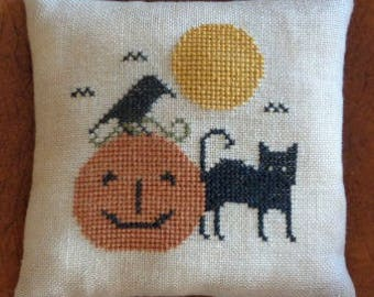 Halloween Cross Stitch Sampler Pattern HALLOWEEN FRIENDS pdf
