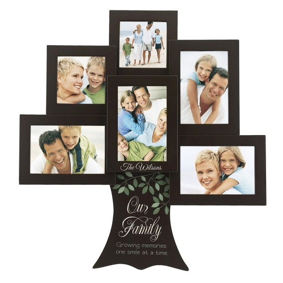 Engraved Personalized Family Tree Photo Collage Frame from ...