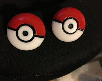 Pokemon Pokeball Poke ball Stud Earrings   Q28