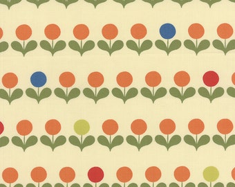 CLEARANCE - Avant-Garden Geometric Mod Blooms Creamsicle by MoMo for Moda, 1/2 yard, 16123 11