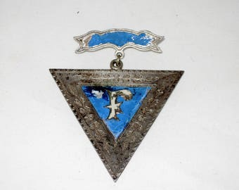 Antique Silver Knights Of Pythias Badge