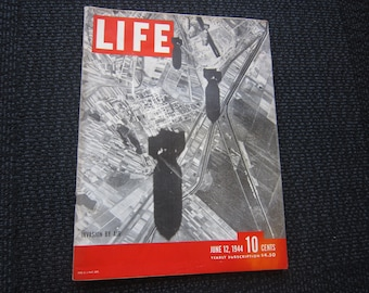 Life Magazine June 12, 1944 - Normandy D-Day, WWII