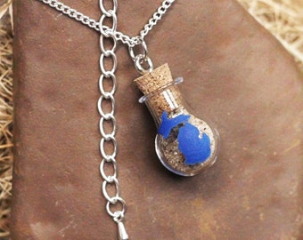 Michigan Bottled Sand Necklace