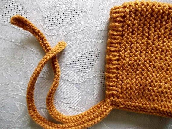 Baby elf Hut Senf gelben Hut Pixie Motorhaube stricken elf Hut