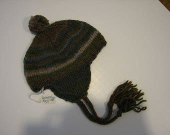 Hand knit Baby Flaphat