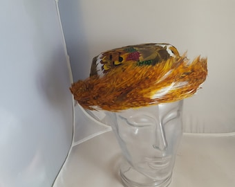 Vintage Pheasant Feather Ladies Hat Union Made