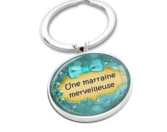 A wonderful godmother cabochon keychain