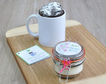 Cake to send, Cake to post, Instant cake, Thankyou lady, Pink roses, Cute cake gift, Sweet tooth present, Ladys mug cake, Chocolate treat,