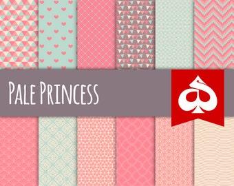 Pale Princess Digital Paper Pattern Clipart