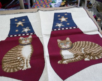 Tapestry All American CATS vest fabric craft panel to cut and sew