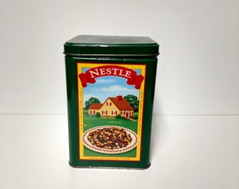 Nestle Tin Can Collectible vintage Storage Bin