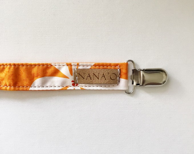 Orange Pacifier Clip