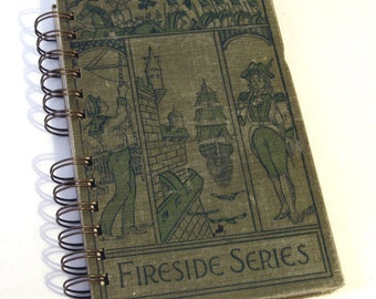VINTAGE MOHICANS NOVEL Handmade Journal Vintage Upcycled Book James Fenimore Cooper Writers Diary