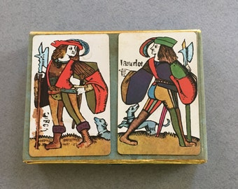 Vintage 1950's Eastman Kodak Advertising Playing Cards Double Deck Sir Lancelot & Hogier LaDanois